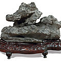 A grey lingbi scholar's rock, song dynasty or later