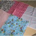 Couture - pique-aguilles bleu et rose