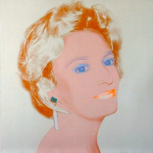 'The Socialite', by Andy Warhol, 1986-1987