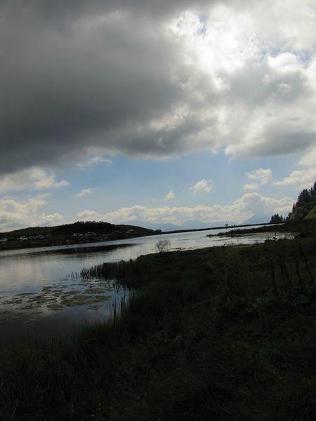 le lac dans le ciell
