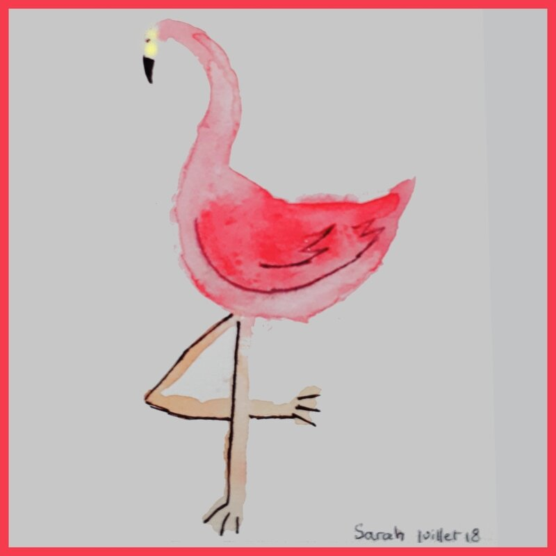 FLAMANT ROSE de Sarah