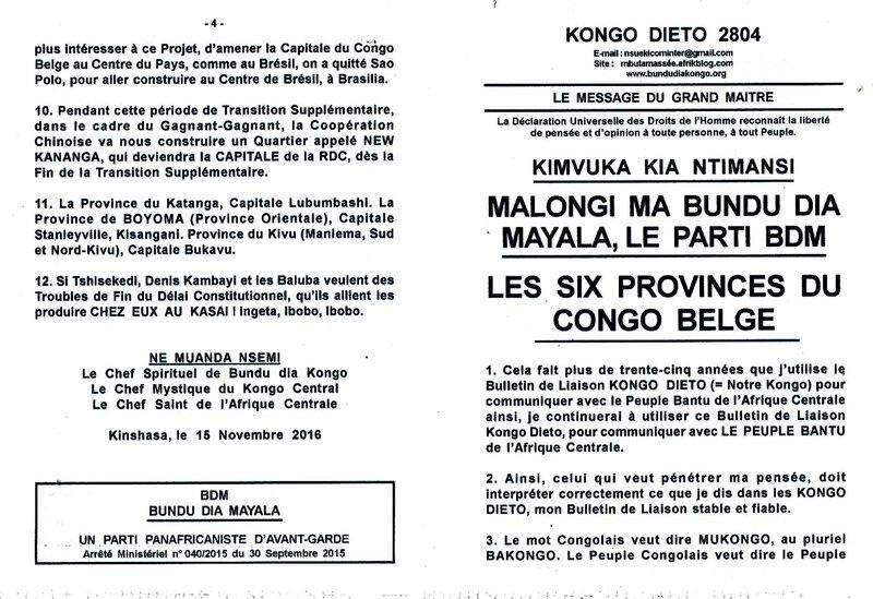 LES SIX PROVINCES DU CONGO BELGE a