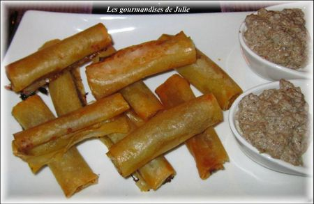 cigares croustillants foie gras