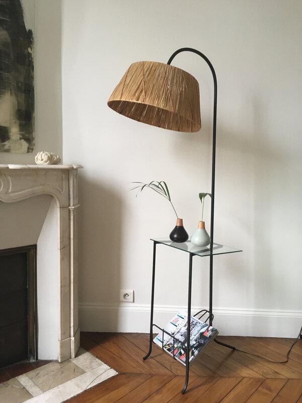 lampadaire rafia