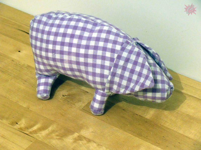 Couture : Patron de peluche gratuit #4 : Le Cochon