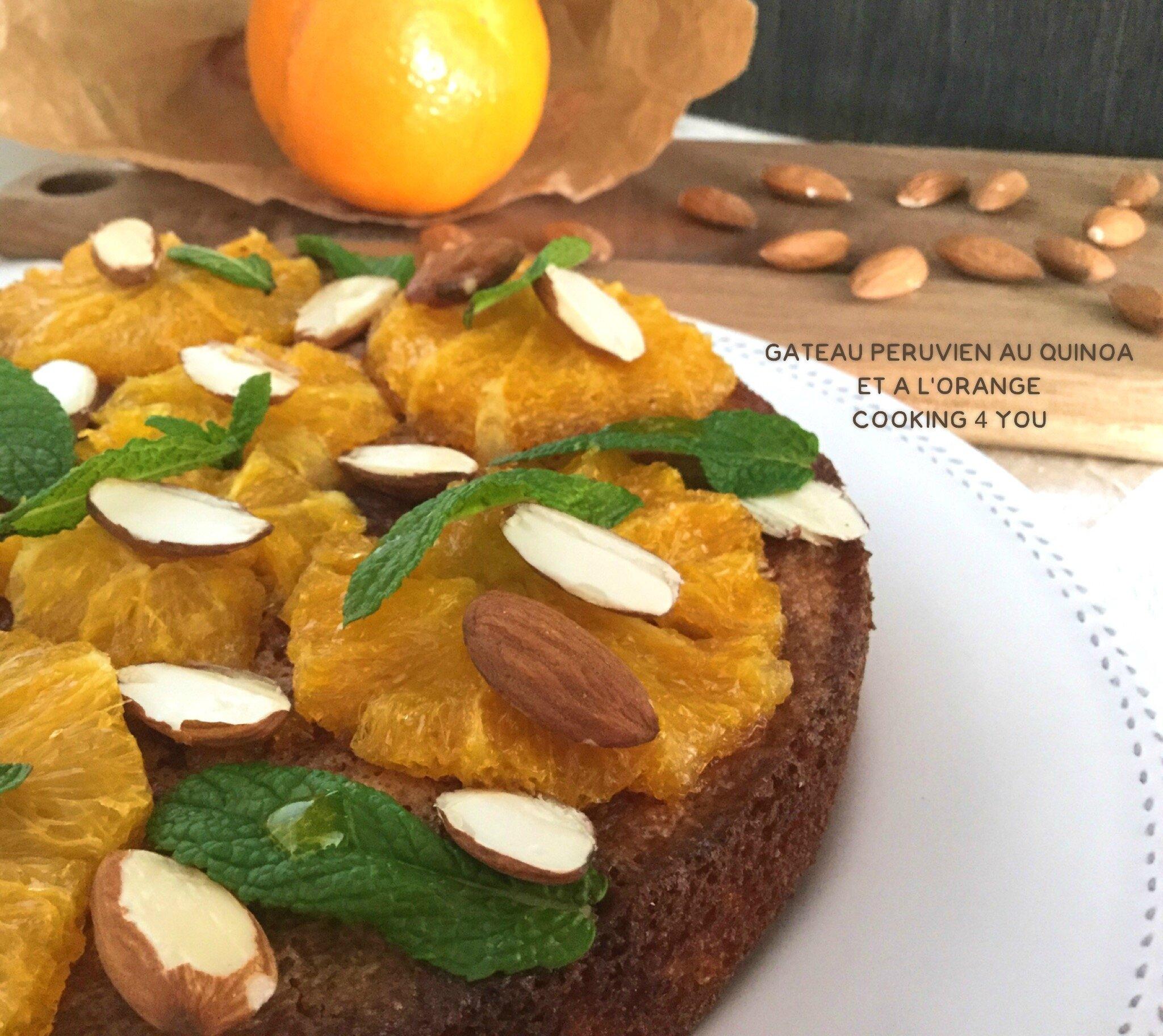 Gâteau Péruvien au Quinoa et à l'orange