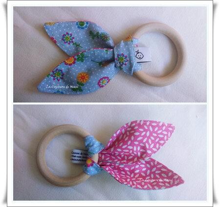 Duo balle et anneau fleuris