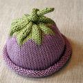 Chapeau aubergine pour bebe