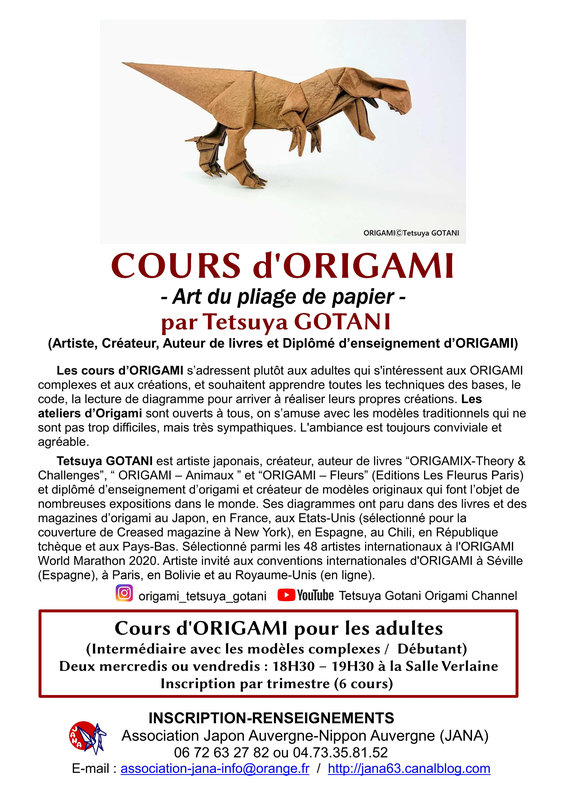 Cours ORIGAMI 2021