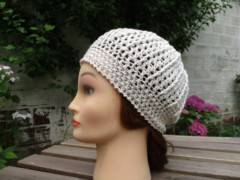 Bonnet simple en fil coton (5)