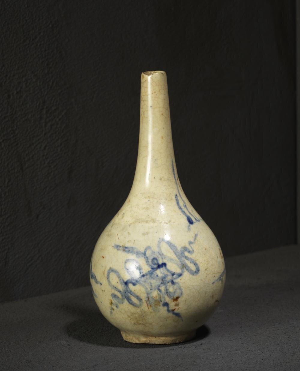 Vase bouteille, Grès de Bát Tràng émaillé, Vietnam