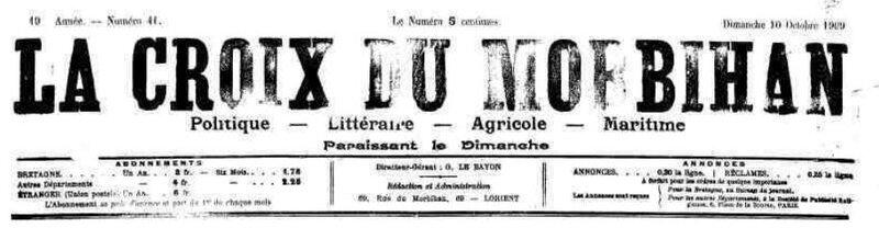 Presse La Croix du Morbihan 1909_1