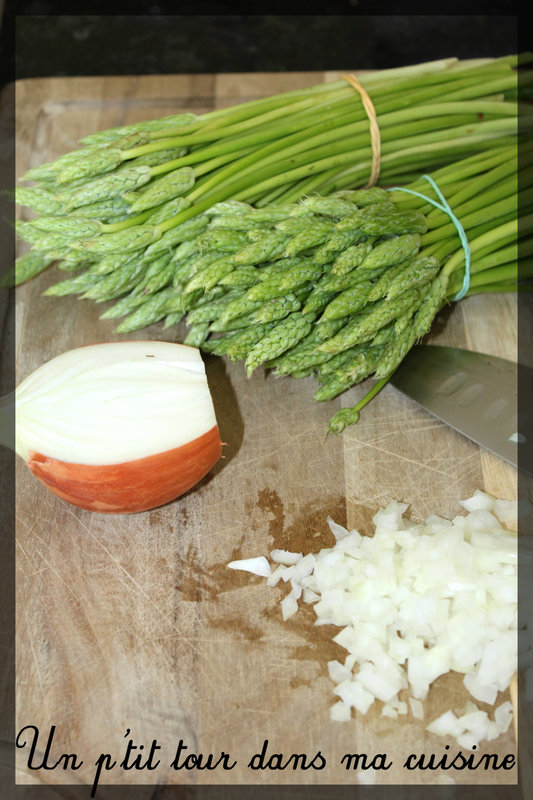 Risotto asperges sauvages