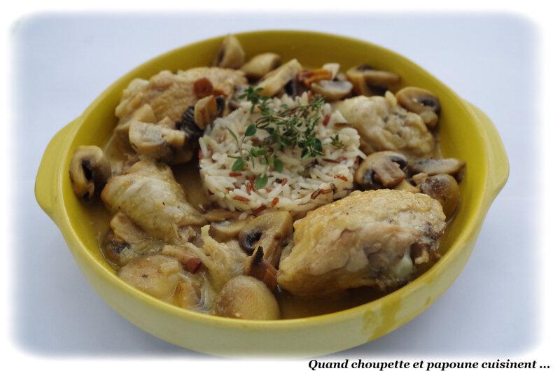 cassolette de poulet à la crème et aux champignons-0411