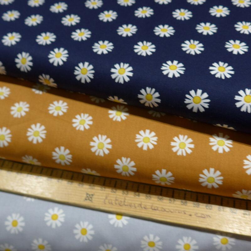 tissu poppy daisy flowers