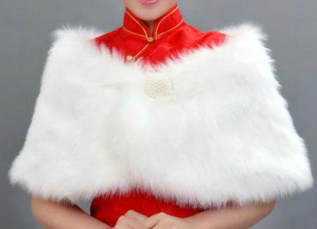 Boléro blanc attache perle