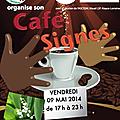 Café-signes le 9 mai