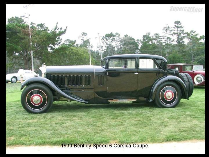 1930 - Bentley Speed 6 Corsica coupe.