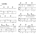 Laura - johnny hallyday (partition sheet music)