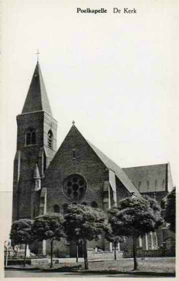 Poelcapelle église 1914