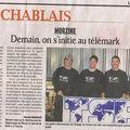 Articles du dauphiné libéré pour annoncer notre première initiation