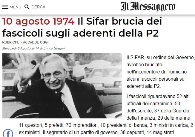 2020-12-05 19_34_09-10 agosto 1974 Il Sifar brucia dei fascicoli sugli aderenti della P2 - Opera
