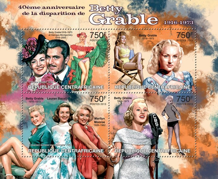 stamp-centre_afrique-2013-betty_grable1
