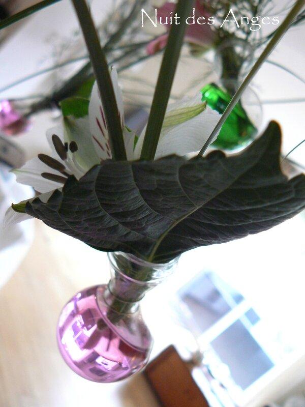 Nuit des anges décoratrice de mariage décoration de table rose et vert 021