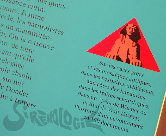 Le chant de la sirène Vic de Donder 1992 - sphinx sur pyramide rouge logo Gallimard