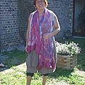 Agnes Cornet du VERASOIE stage laine et soie feutree