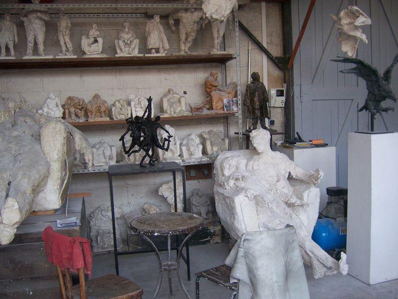 visite de l'atelier de roseline granet à meudon