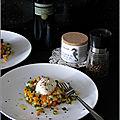 Tartare de courgettes et carottes (cuisson vapeur) & mozzarella