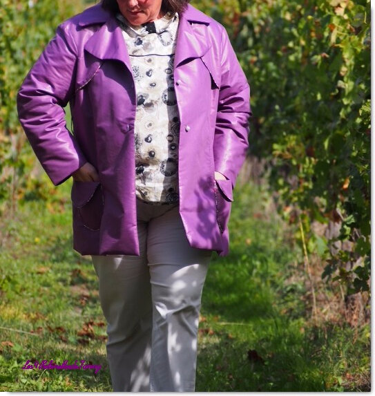 Trench couleur figue violette