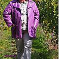 Trench couleur figue violette