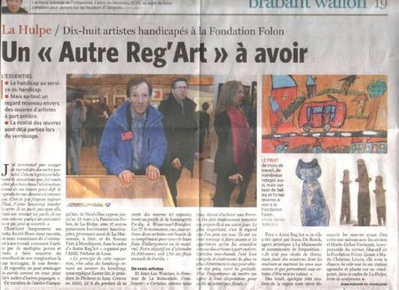 scan article presse La hulpe 2012
