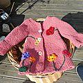 Manteau fleuri taille 15 mois en rangs racourcis