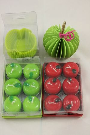 bougies pommes-pomme 3d- moules pommes