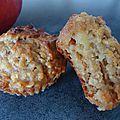 Muffins aux pommes, flocons d'avoine et sirop d'agave