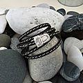 De retour de vacances, voici un modèle de bracelet cuir noir