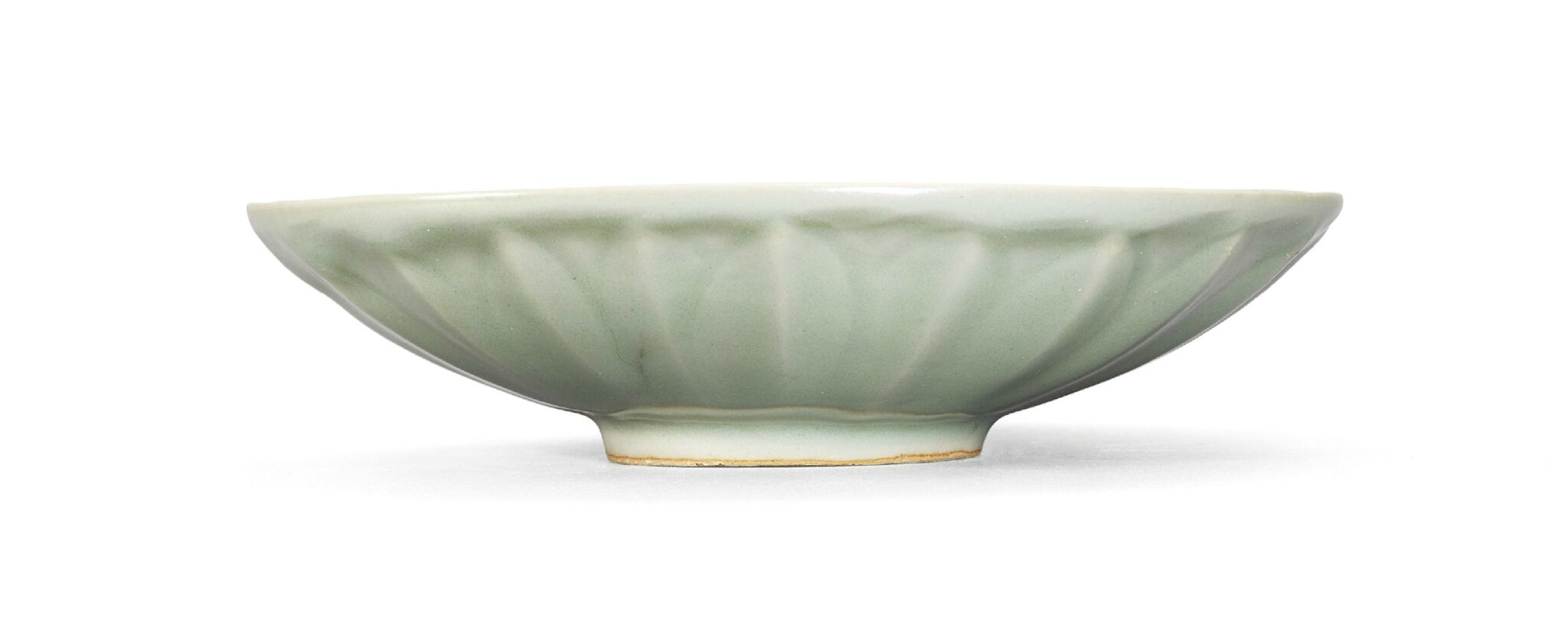 A Longquan celadon lotus-form dish, Southern Song dynasty (1127-1279)
