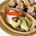 Maki saumon grillé accompagnés de kimchi