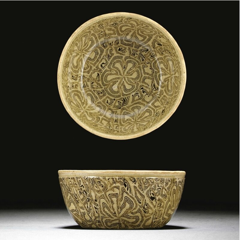A very rare marbled bowl, Early Northern Song dynasty