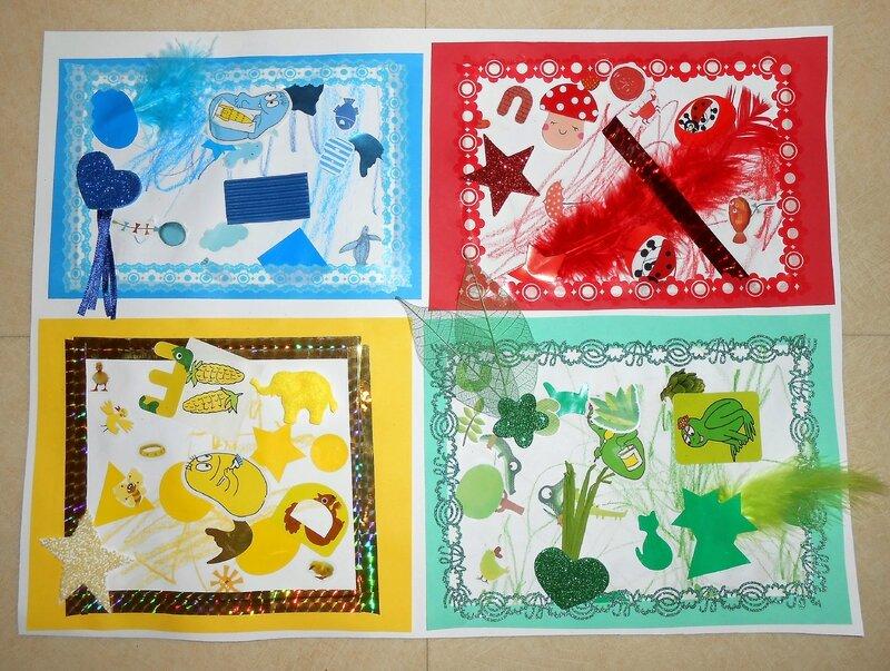 activité-manuelle-couleurs-rouge-jaune-vert-bleu-tableau-enfants-collage-bricolage (2)