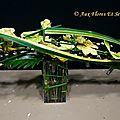 Bouquet parallèle horizontal Vanda, Xanadu & Chaton