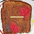 Second test de gâteau caché (moins raté, mais pas encore parfait)