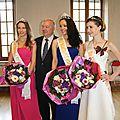 Présentation de la nouvelle miss et ses dauphines à la mairie de montargis, samedi 25 avril 2015