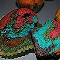Muffins trop colorés