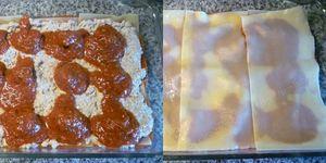 montage 3 lasagne à la ricotta