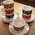 Service à café Arcopal - années 70