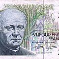 1982 5000francs recto Prètre Catholique Poete de langue Néelandaise Guido Gezelle 1830-1899